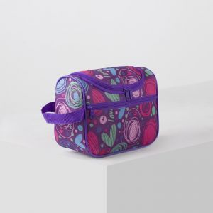 Косметичка сумочка, отдел на молнии, наружный карман, цвет сиреневый