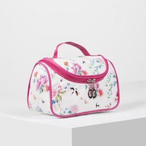Косметичка-сумка, отдел на молнии, зеркало, цвет бежевый