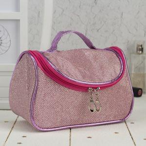 Косметичка-сумочка, отдел на молнии, зеркало, цвет розовый