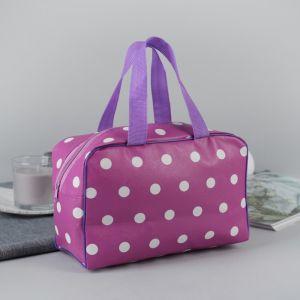 Косметичка-сумочка, отдел на молнии, 2 ручки, цвет сиреневый