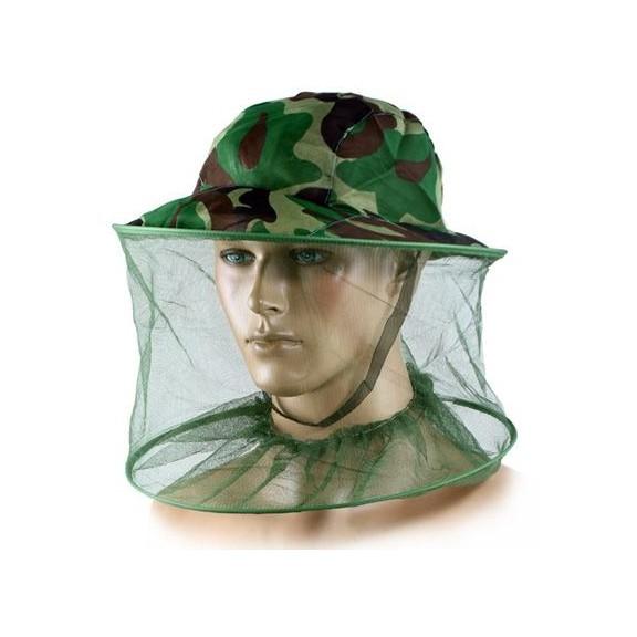 Антимоскитная камуфляжная шляпа -  защита от комаров и мошки