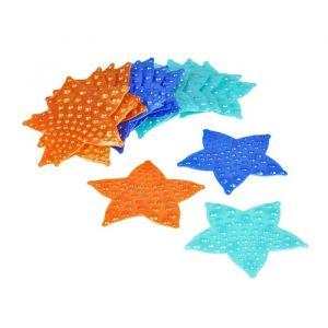 Набор мини-ковриков для ванны «Звезда», 10?10 см, 6 шт, цвет МИКС