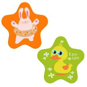 Мини-коврики для ванны «Вместе веселей!», на присосках, набор 2 шт.