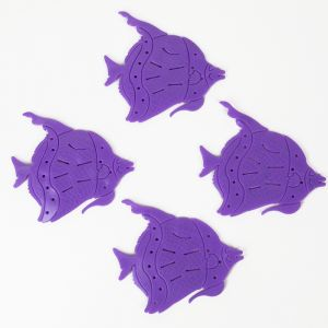 Набор мини-ковриков для ванны «Рыбки», 10?12 см, 4 шт, цвет МИКС