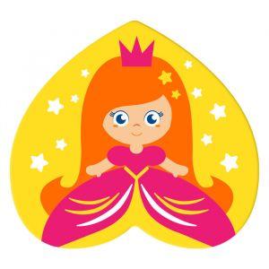 УЦЕНКА Мини-коврик для ванны на присосках «Принцесса»
