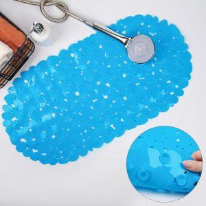 Коврик для ванны «Галька», 35?68 см, цвет голубой