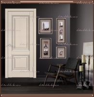 Межкомнатная дверь ALTO 7 Глухое SoftTouch структурный Ясень капучино :