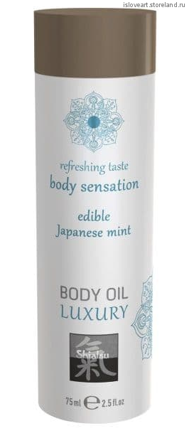 Съедобное массажное масло с ароматом японской мяты 75мл