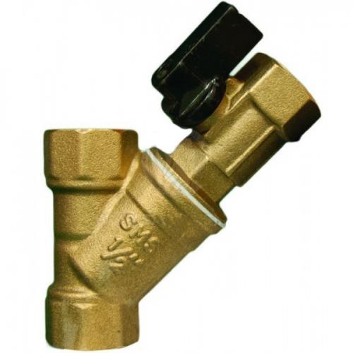 Фильтр косой с мини краном 1/2 ТИМ (BL-D7602)