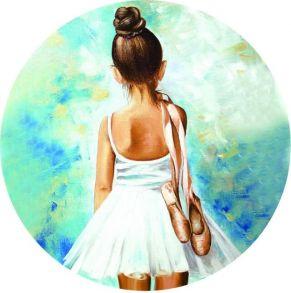 Вышивка крестиком «Маленькая балерина» 21x21.