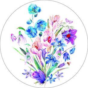 Вышивка крестиком «Букет полевых цветов» 28x28.