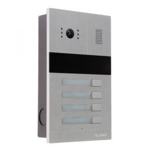 Вызывная панель видеодомофона SLINEX MA-04, четырехабонентская, 138 град, 960 ТВЛ, ИК, NFC   4552655
