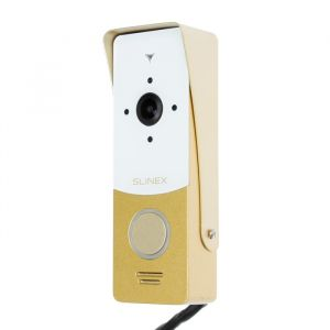 Вызывная панель видеодомофона SLINEX ML-20HD, наружная, 150 град, 960 ТВЛ, ИК, бело-золотая  4552646