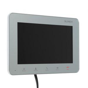 """Видеодомофон SLINEX SM-07M, 7"""" цв. 16:9, 800х480, вн. память, microSD, серебристый   4552624"""