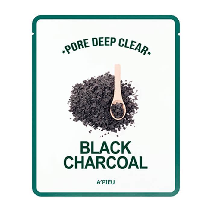 Тканевая маска с древесным углем A'Pieu Pore Deep Clear Black Charcoal Mask