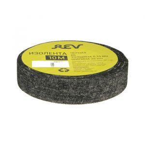 Изолента Rev, ХБ, 20 мм х 10 м, 350 мкм, 125 г, черная 4717206