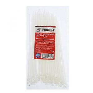 Хомут нейлоновый TUNDRA krep для стяжки, 2.5 х 150 мм, белый, в упаковке 100 шт. 1112931