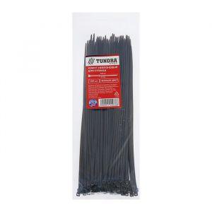 Хомут нейлоновый TUNDRA для стяжки, 2.5 х 200 мм, черный, в упаковке 100 шт. 1112938