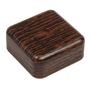 Коробка распределительная T-plast, 50х50х20 мм, венге, 50.12.002.0005,   3689387