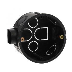Коробка установочная TUNDRA, 68х40 мм, IP20, для сплошных стен, цвет черный 4283298