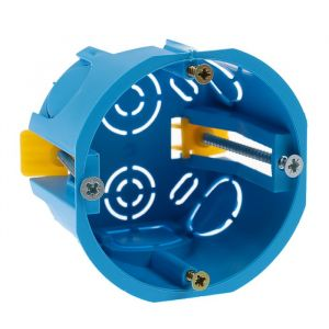 Коробка установочная TUNDRA, 68х45 мм, IP20, для полых стен, цвет синий   4283300