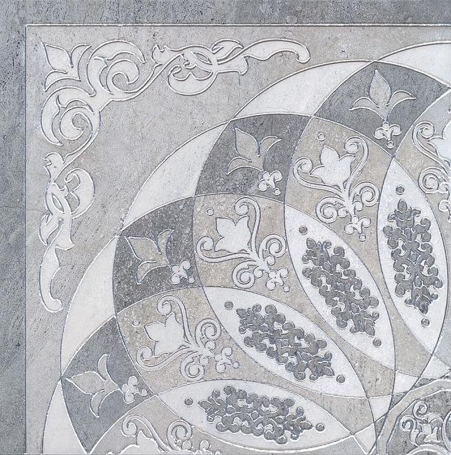 HGD/B37/SG1550L | Декор Монтаньоне серый лаппатированный 1/4 розона
