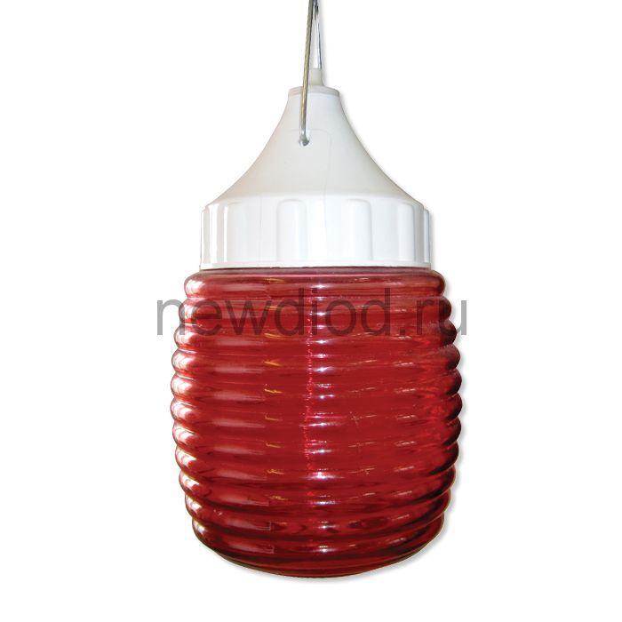 """Сигнальный специальный светильник """"Бочонок"""" 120 НСП 03-60-001 IP53 красный /корпус пластик белый ГУ"""