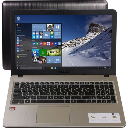 Ноутбук ASUS X540BA-DM213T: AMD A9 9425 x2 (3.1-3.4 GHz), 4Gb, SSD 256Gb, AMD Ra