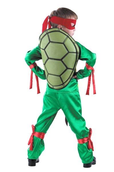 Детский костюм красно-зеленой Черепашки Каратиста