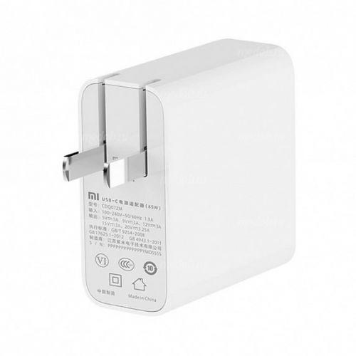 Блок питания Зарядное USB Type-C устройство Xiaomi для ноутбука Mi Notebook Air (65W) NZB4001 White