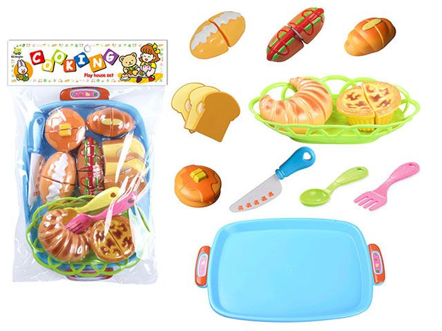 Н228С43 Набор игрушечных продуктов 12 предметов Выпечка