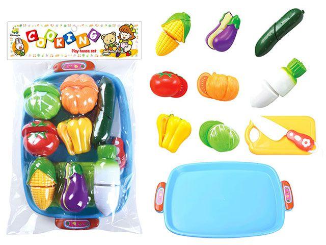 Н228С40 Набор игрушечных продуктов 11 предметов Овощи