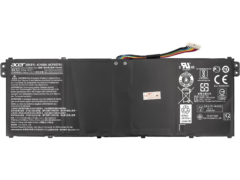 Аккумулятор Acer ES1-512/... (AC14B8K) Оригинал