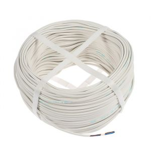 Провод Luazon Lighting, 100 м, ШВВП, 2х0.5 мм2, белый, ГОСТ 4162538