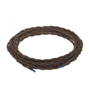 Ретро провод Luazon Lighting, 10 м, 2х1.5 мм2, цвет коричневый 4910247