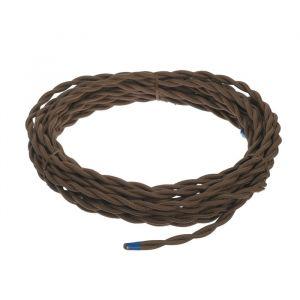 Ретро провод Luazon Lighting, 10 м, 2х2.5 мм2, цвет коричневый 4910250
