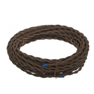 Ретро провод Luazon Lighting, 20 м, 2х2.5 мм2, цвет коричневый 4910255