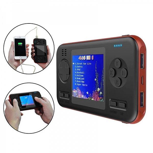 Портативный аккумулятор EZRA PB12 (8000мА/игровая консоль 416 игр)