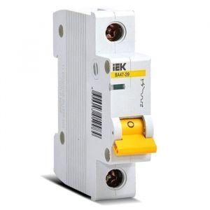 Выключатель автоматический IEK MVA20-1-016-C, 1п, С 16 А, ВА 47-29, 4.5кА 2590346