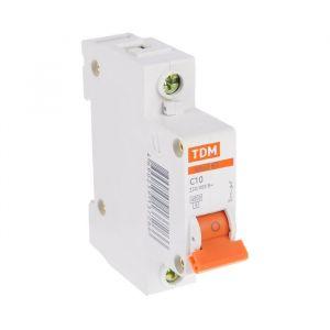 Выключатель автоматический TDM ВА47-63, 1п, 10 А, 4.5 кА 1890626