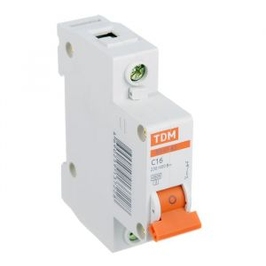 Выключатель автоматический TDM ВА47-63, 1п, 16 А, 4.5 кА 1890627