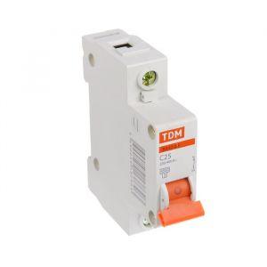 Выключатель автоматический TDM ВА47-63, 1п, 25 А, 4.5 кА 1890629