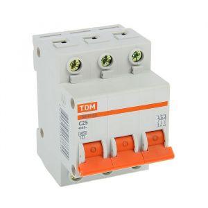 Выключатель автоматический TDM ВА47-63, 3п, 25 А, 4.5 кА 2114236
