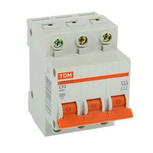 Выключатель автоматический TDM ВА47-63, 3п, 32 А, 4.5 кА 2114237