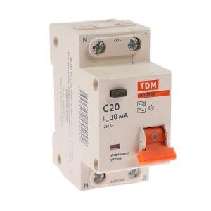 Дифференциальный автомат TDM, АВДТ 32, 2п, 20 А, 30 мА, 4.5 кА 4214448