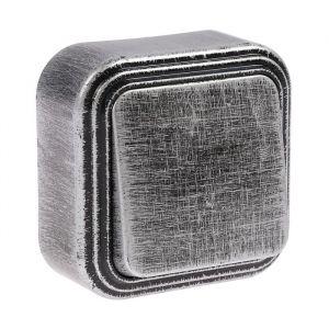 """Выключатель """"Элект"""" VA 16-131-ЧС, 6 А, 1 клавиша, наружный, цвет черный под серебро 4364442"""