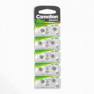 Батарейка алкалиновая Camelion Mercury Free, AG4 (377, LR626)-10BL, 1.5В, блистер, 10 шт. 2749865