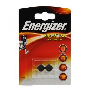 Батарейка алкалиновая Energizer, LR43 (186)-2BL, 1.5В, блистер, 2 шт. 2794282