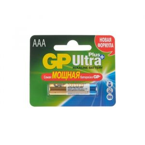 Батарейка алкалиновая GP Ultra Plus, AAA, LR03-1BL, 1.5В, блистер, 1 шт. 4857388