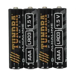 Батарейка алкалиновая TUNDRA, AAA, LR03, спайка, 4 шт 3142261